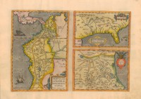 Map used by European explorers, 1584 (MDAH Collection)