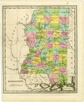 Map of Mississippi, circa 1836-1840 (MDAH Collection)
