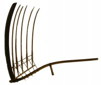 Cradle scythe used for harvesting grain (Museum of Mississippi History Collection)