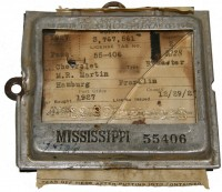 Automobile License Tag and Holder