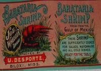 Barataria Shrimp Can Label