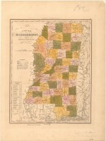 Map of Mississippi, 1842 (MDAH Collection)