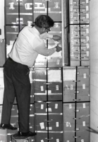 Elbert Hilliard, MDAH director, seals Sovereignty Commission files, March 1977