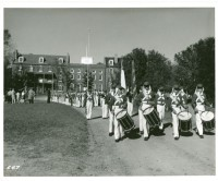 Horse Soldiers Cadets march out of campus