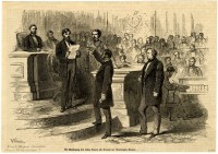 """""""The Swearing in of the First Negro Senator of the United States"""" (MDAH Collection)"""