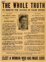 1955 re-election broadside for Nellah Massey Bailey (MDAH Collection)