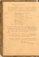 Bank of Mississippi minutes from March 29, 1811 (MDAH Collection)