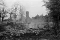 Ruins of Vernon Dahmer's house on morning it was firebombed
